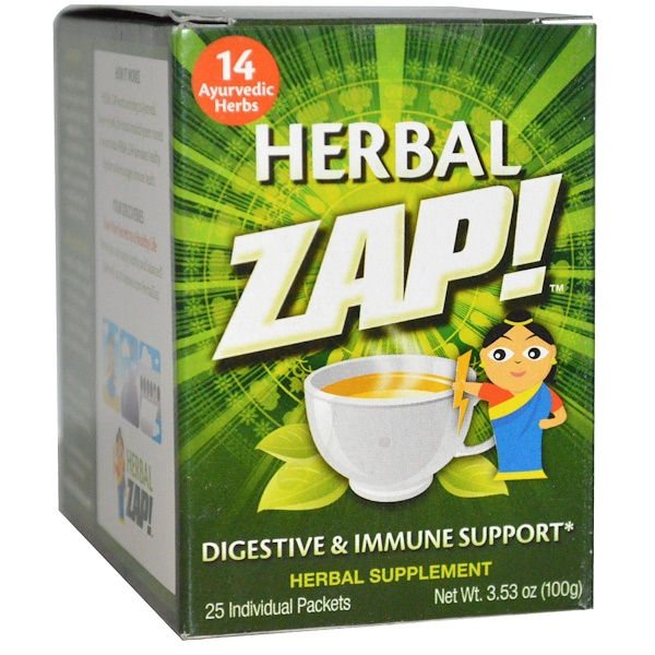 Herbal Zap, Digestive & Immune Support, 25 Packets, 3.53 oz (100 g) (Discontinued Item)