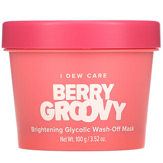 I Dew Care, BerryGroovy, Mascarilla de belleza glicólica iluminadora con enjuague, 100g (3,52oz)