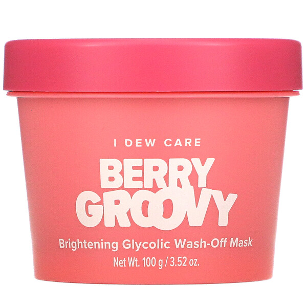 Berry Groovy, Brightening Glycolic Wash-Off Beauty Mask, 3.52 oz (100 g)