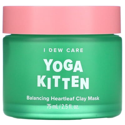 Купить I Dew Care Yoga Kitten, Balancing Heartleaf Clay Mask, 2.5 fl oz (75 ml)