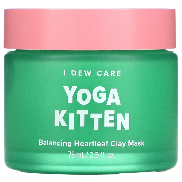 Yoga Kitten, Balancing Heartleaf Clay Beauty Mask,  2.53 fl oz (75 ml)