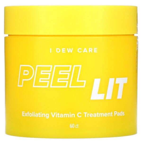 Peel Lit, Exfoliating Vitamin C Treatment Pads, 60 Count