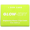 I Dew Care, Glow-Key, Brightening Vitamin C Eye Cream, 0.50 fl oz (15 ml)