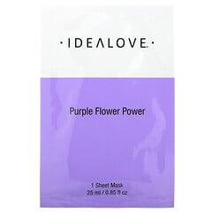 Idealove, Purple Flower Power Beauty Mask, 1 Sheet Mask, 0.85 fl oz (25 ml)