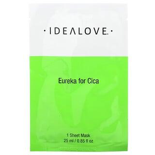 Idealove, Eureka for Cica, 1 Beauty Sheet Mask, 0.85 fl oz (25 ml)