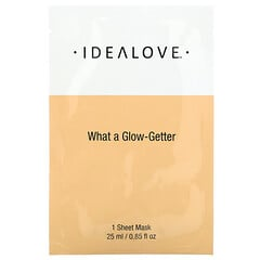 Idealove, What a Glow-Getter, 1 Beauty Sheet Mask, 0.85 fl oz (25 ml)