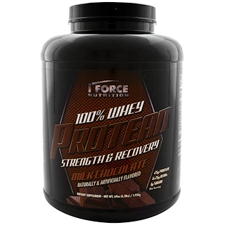 iForce Nutrition, 100% Whey Protean, Milk Chocolate, 4.3 lbs (1.95 kg)