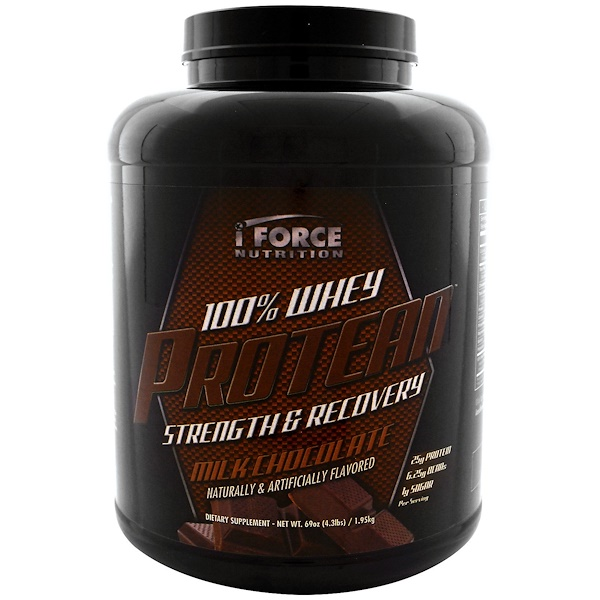 iForce Nutrition, 100% Whey Protean, Milk Chocolate, 4.3 lbs (1.95 kg) (Discontinued Item)