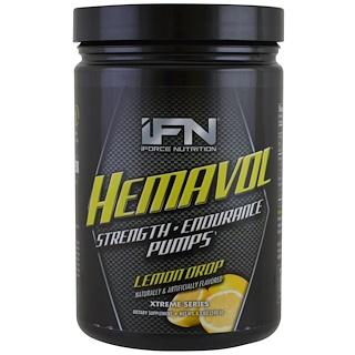 iForce Nutrition, Серия Xtreme, Порошок Гемавол, Лимонный леденец, 8.5 унций (240 г)