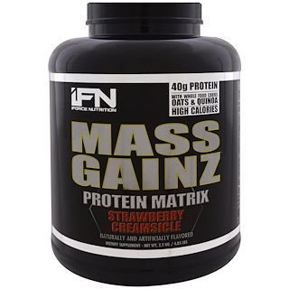 iForce Nutrition, Белковая матрица Mass Gainz, клубничная кримсикл, 2,2 кг(4,85 фунтов)