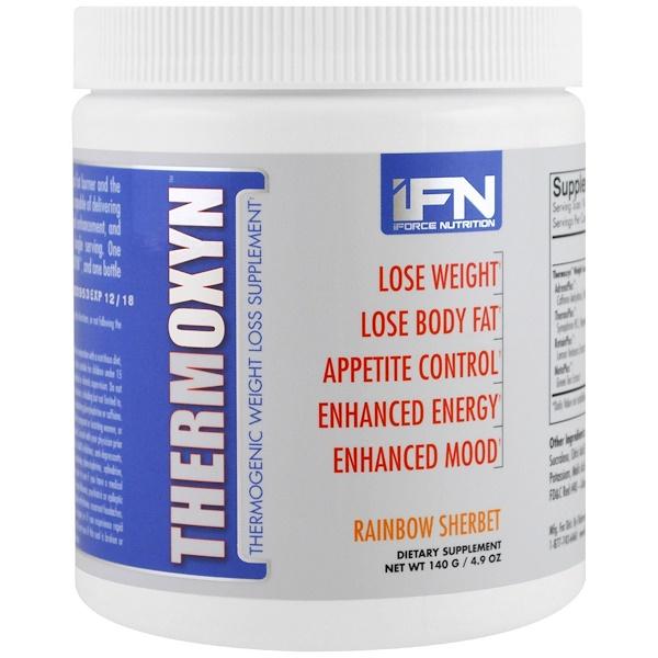 iForce Nutrition, Thermoxyn,減肥補充劑,彩虹果汁,4、9盎司(140克)