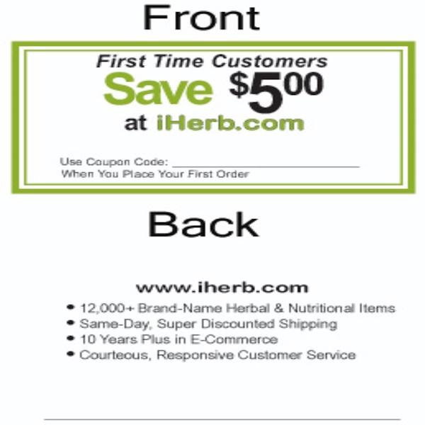 iHerb Goods, Reward Program, Discount Cards, 500, 3x2 inch Cards (Discontinued Item)