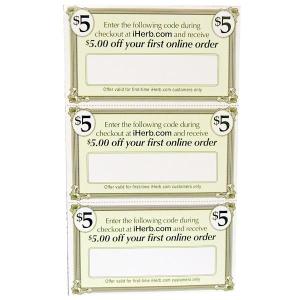 iHerb Goods, Reward Program, Gift Cards, 60, 2 X 3.5 Inch Cards (Discontinued Item)