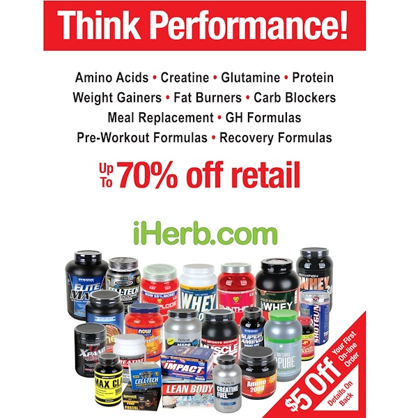 iHerb Goods, Think Performance! Flyer Pack, 100 Flyers (Discontinued Item)