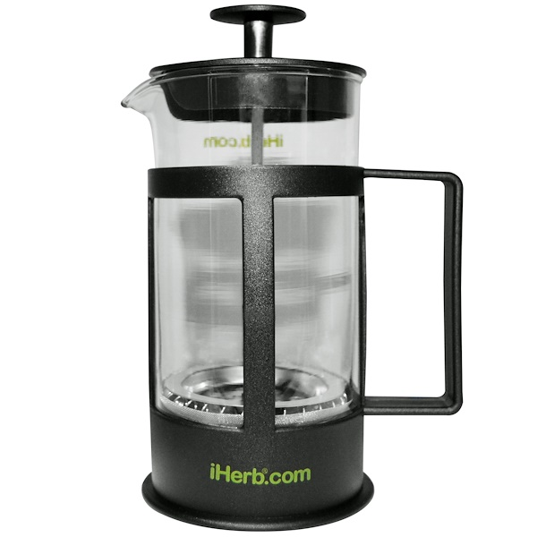 iHerb Goods, Coffee and Tea Maker, 1 Coffee/Tea Press, 12 fl oz (350 ml) (Discontinued Item)