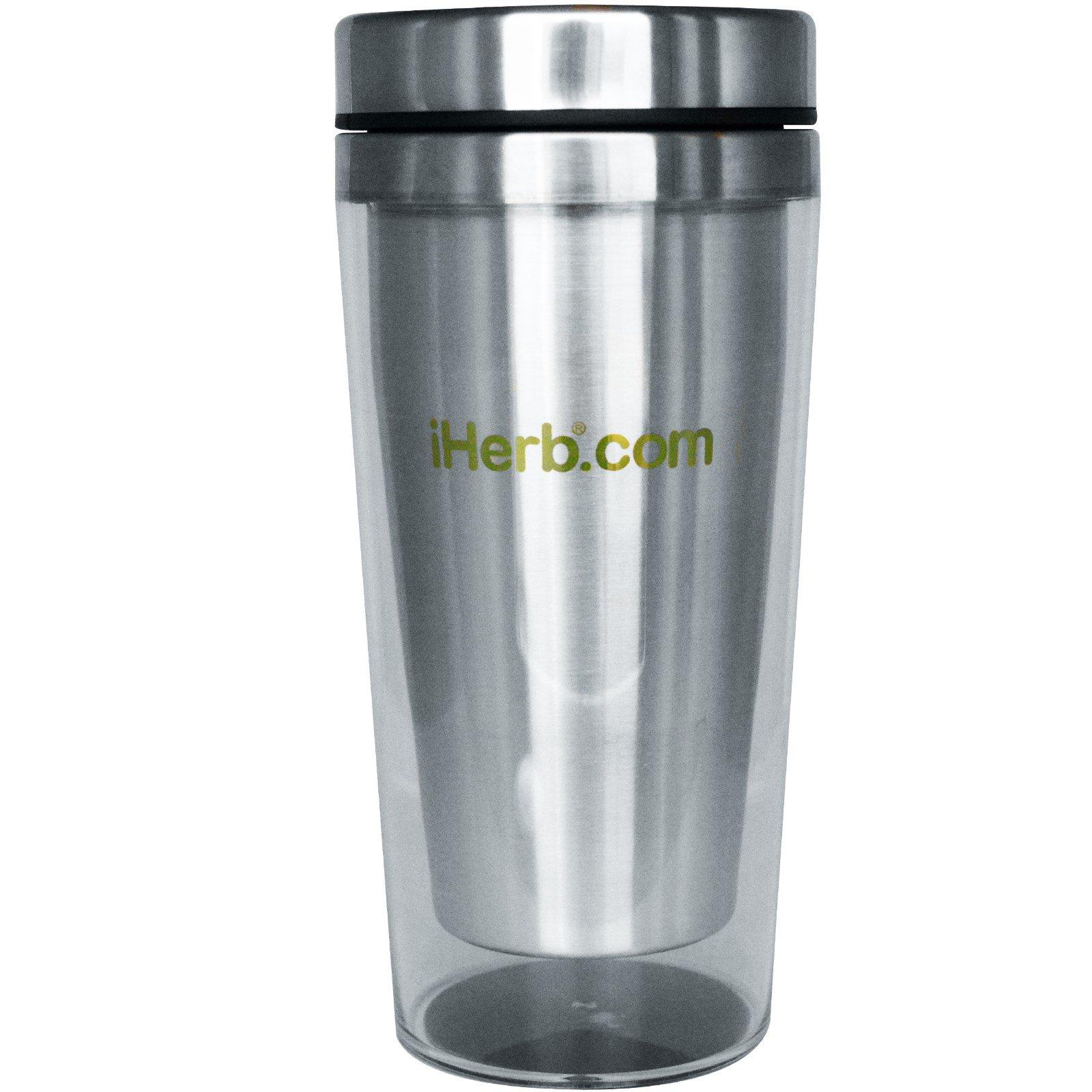 iHerb Goods, Travel Coffee Mug, Clear-Acrylic, 16 oz - iHerb com