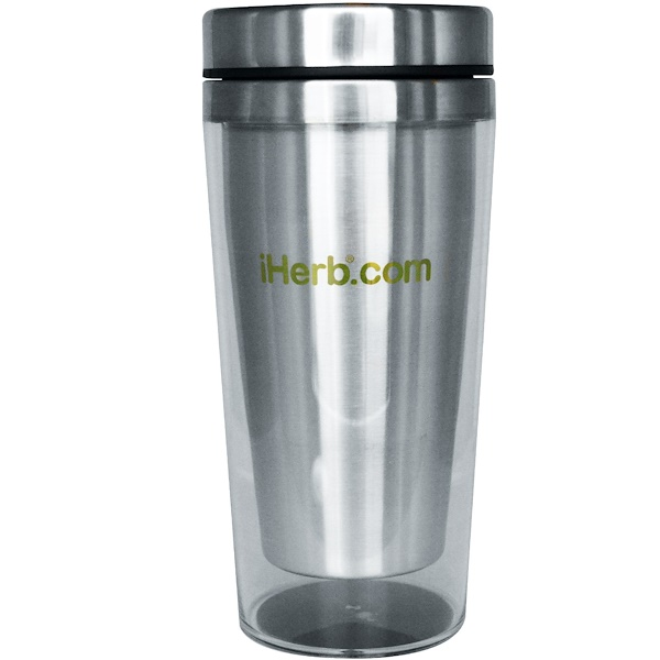iHerb Goods, Travel Coffee Mug, Clear-Acrylic, 16 oz (Discontinued Item)