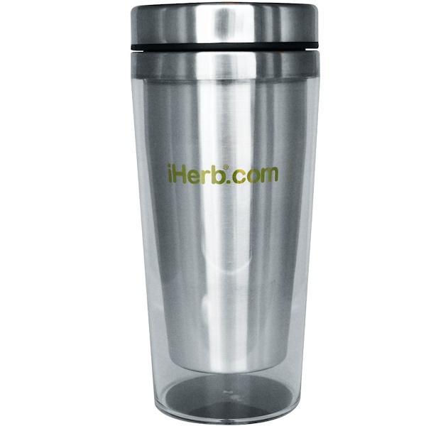iHerb Goods, トレベルコーヒーマグ、クリアアクリル、 16 oz (Discontinued Item)