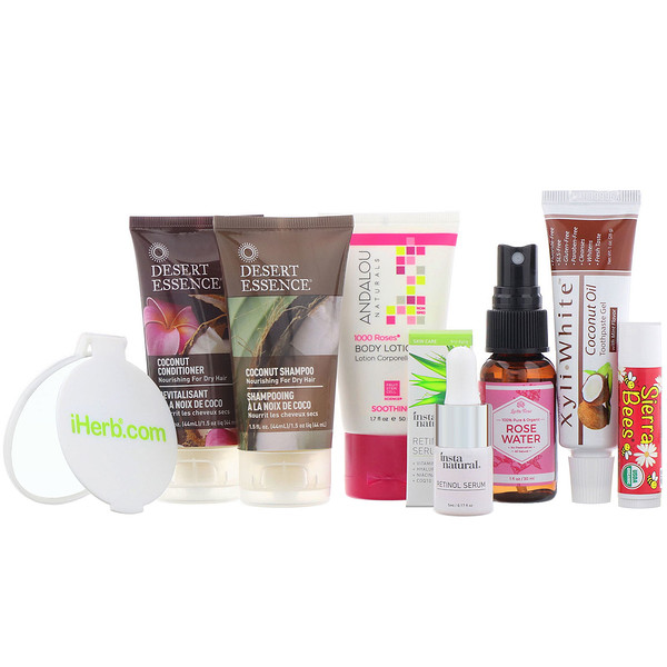 iHerb Goods, Health, Beauty & Wellness Trial Bag, 8 Pieces (Discontinued Item)