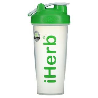 iHerb Goods, iHerb Blender Bottle with Blender Ball, Green, 28 oz
