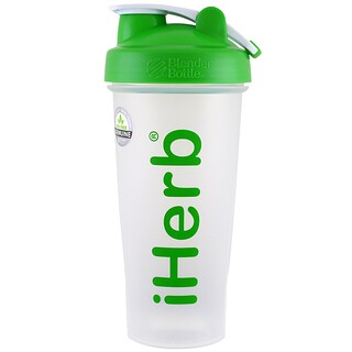 iHerb Goods, Blender Bottle avec Blender Ball, verte, 84 cl (28 oz)