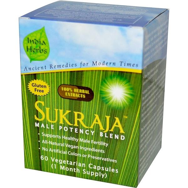 India Herbs, Sukraja, Male Potency Blend, 60 Veggie Caps (Discontinued Item)