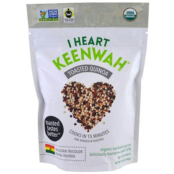 I Heart Keenwah, 烤藜麥,玻利維亞三色皇家藜麥,12 盎司(340 克)