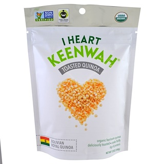 I Heart Keenwah, Toasted Quinoa, Bolivian Royal Quinoa, 12 oz (340 g)