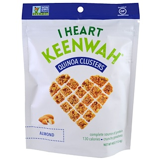 I Heart Keenwah, Quinoa Clusters, Almond, 4 oz (113.4 g)