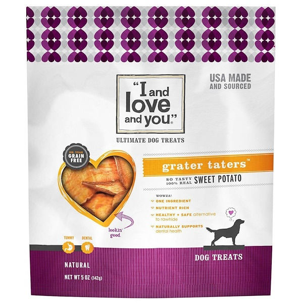 I and Love and You, Ultimate Dog Treats, Grater Taters, Sweet Potato, 5 oz (Discontinued Item)