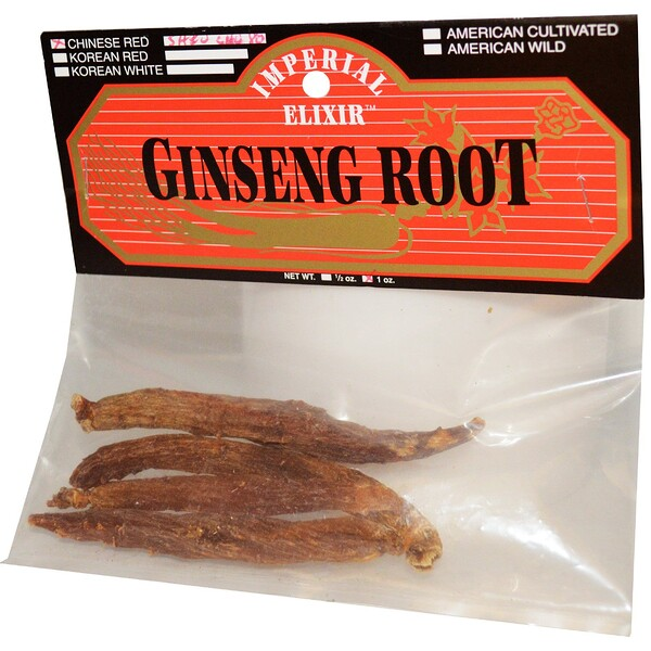 Ginseng Root, Chinese Red Shiu Chu Xu, 1 oz