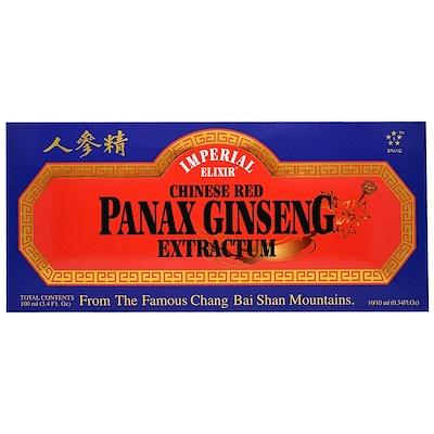 Imperial Elixir 中國人參膏,10瓶,0.34 fl oz (10 ml) 每瓶