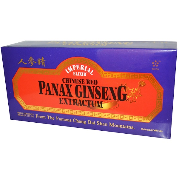 Imperial Elixir, Chinese Red Panax Ginseng Extractum, 30 Bottles, 0.34 fl oz (10 ml) Each (Discontinued Item)