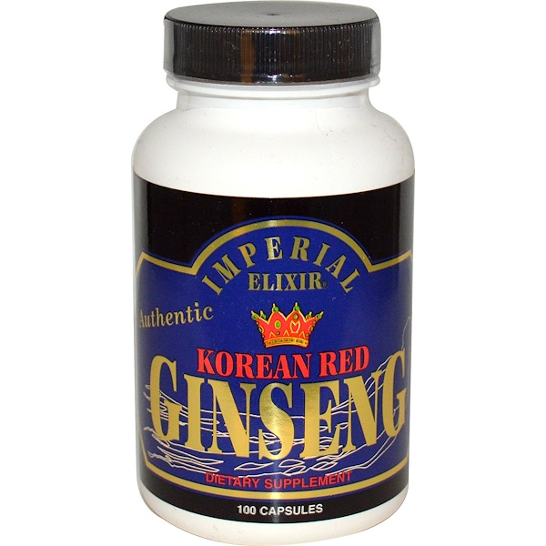 Imperial Elixir, Korean Red Ginseng, 100 Capsules