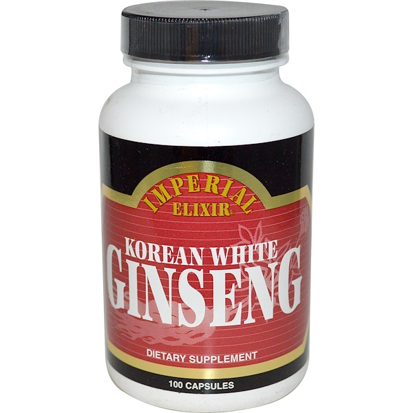 Korean White Ginseng, 100 Capsules