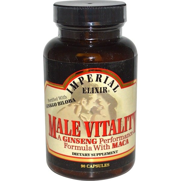 Imperial Elixir, Male Vitality, A Ginseng Performance Formula with Maca, 90 Capsules