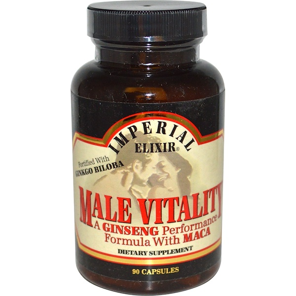 Imperial Elixir, Male Vitality, A Ginseng Performance Formula with Maca, 90 Capsules (Discontinued Item)