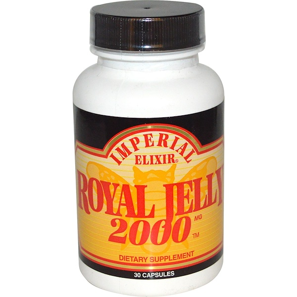 Imperial Elixir, Royal Jelly, 2000 mg, 30 Capsules