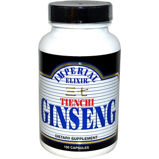 Imperial Elixir, Tienchi Ginseng, 100 Capsules