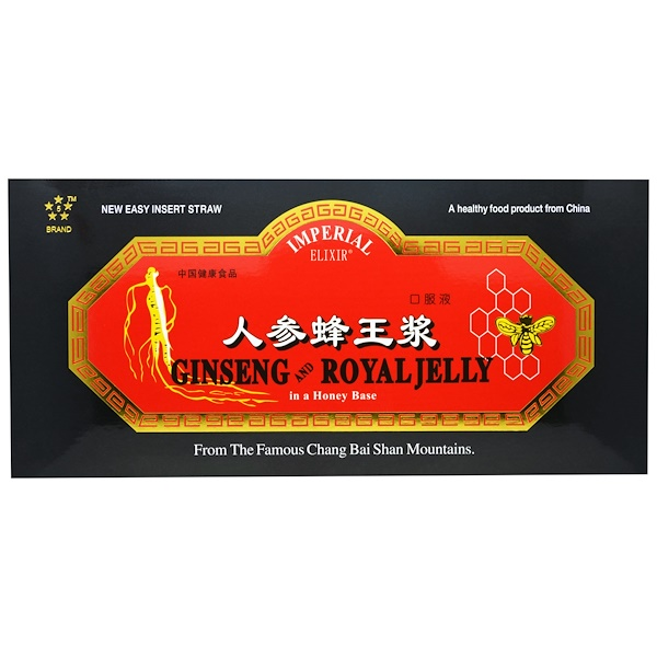 Imperial Elixir, Ginseng & Royal Jelly, 30 Bottles, 0.34 fl oz (10 ml) Each