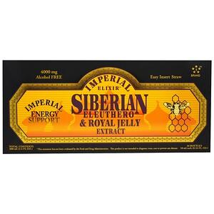 Эмпериал Эликсир, Siberian Eleuthero & Royal Jelly Extract, Alcohol Free, 4000 mg, 10 Bottles, 0.34 fl oz (10 ml) Each отзывы