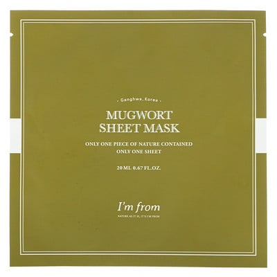 Купить I'm From Mugwort Sheet Mask, 1 Sheet, 0.67 fl oz (20 ml)