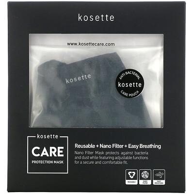 Купить Kosette многоразовая защитная маска с нанофильтром, средний размер, 1шт.