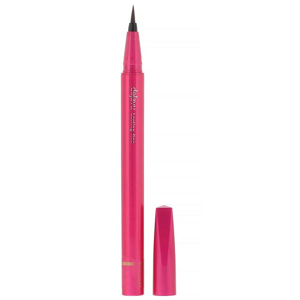 Dejavu, Lasting-Fine Brush Liquid Eyeliner, Glossy Brown, 0.03 fl oz (0.91 g)