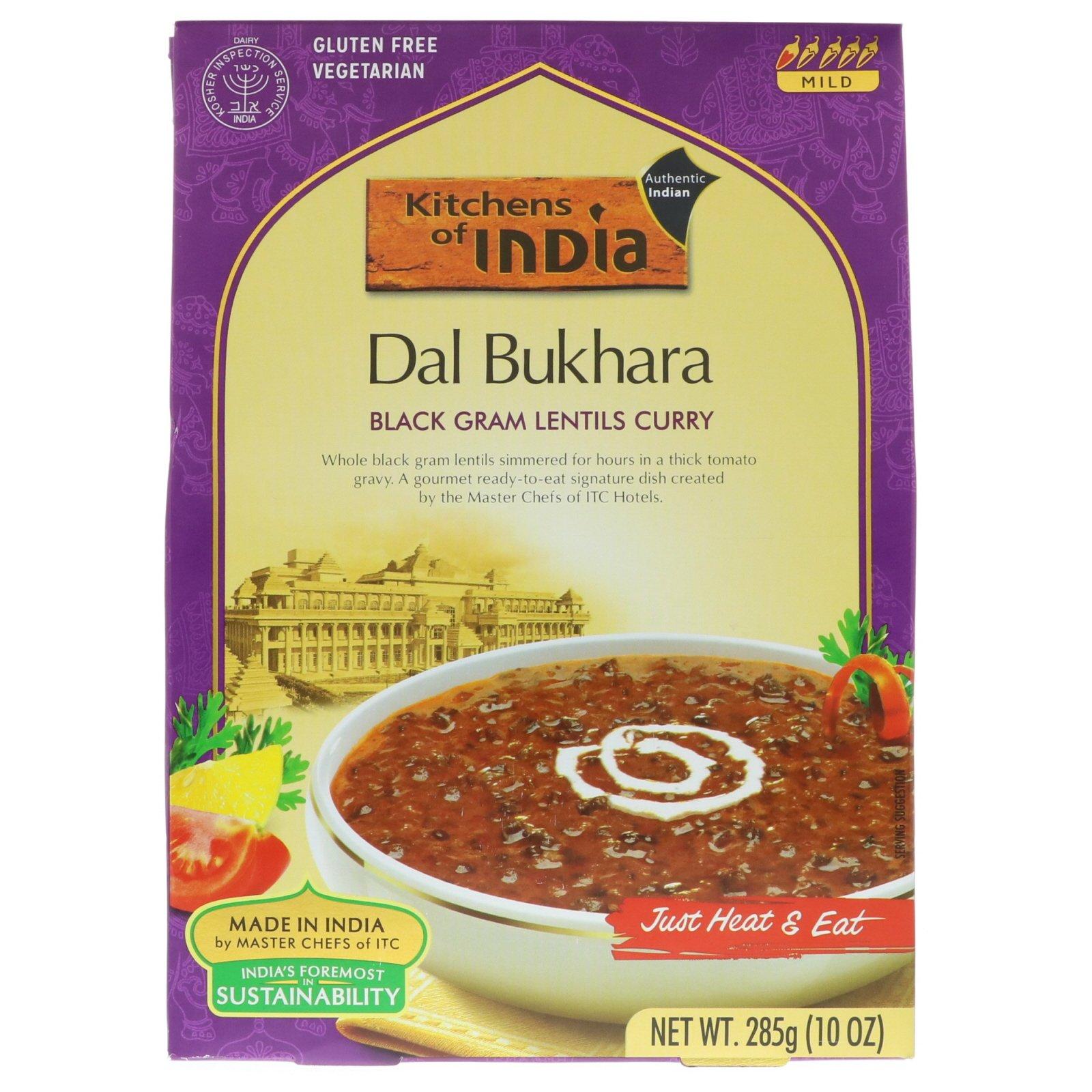 Kitchens Of India, Dal Bukhara, Black Gram Lentils Curry, Mild, 10 Oz