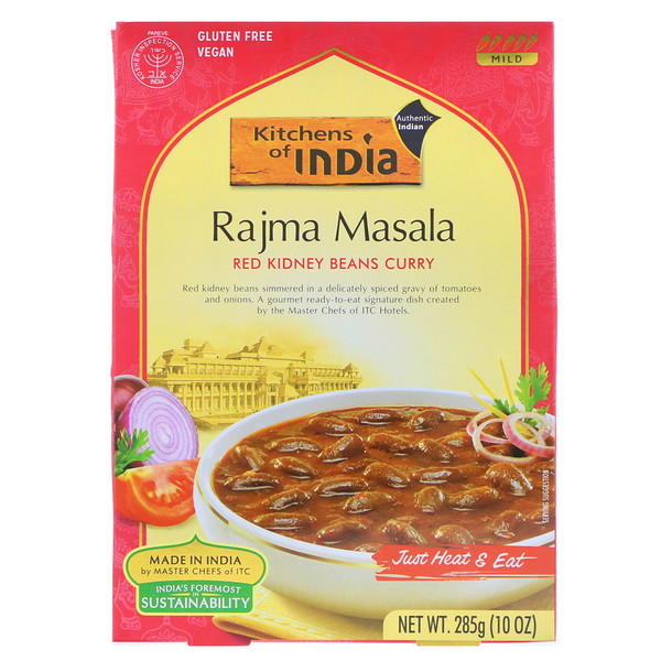 Kitchens of India, Rajma Masala, Red Kidney Beans Curry, Mild, 10 oz (285 g) (Discontinued Item)