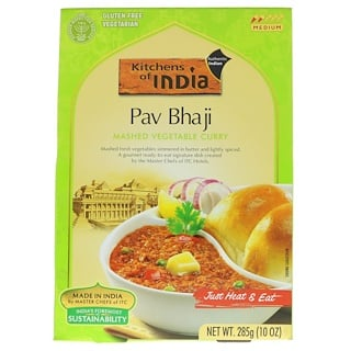 Kitchens of India, Pav Bhaji, Mashed Vegetable Curry, Medium, 10 oz (285 g)