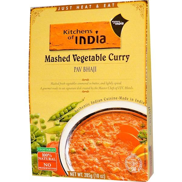 Kitchens of India, Карри овощное пюре 10 унции (285 г)