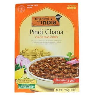Kitchens of India, Pindi Chana, Chick Peas Curry, Mild, 10 oz (285 g)