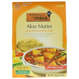 Kitchens of India, Aloo Mutter, Diced Potato and Pea Curry, Mild, 10 oz (285 g)